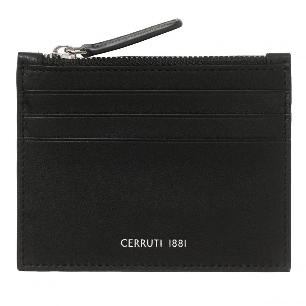 CERRUTI 1881 - Porte-cartes zip Zoom Black
